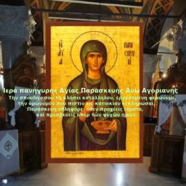 Ιερά πανήγυρης Αγίας Παρασκευής Άνω Αγόριανης Δομοκού
